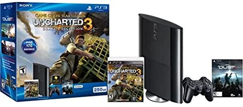PlayStation 3 250GB extra Controller Bundle with Uncharted 3 and PS Plus 12-month Membership