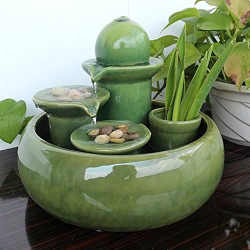 PZON Fuente Mesa cerámica/Fuente Cascada Cascada