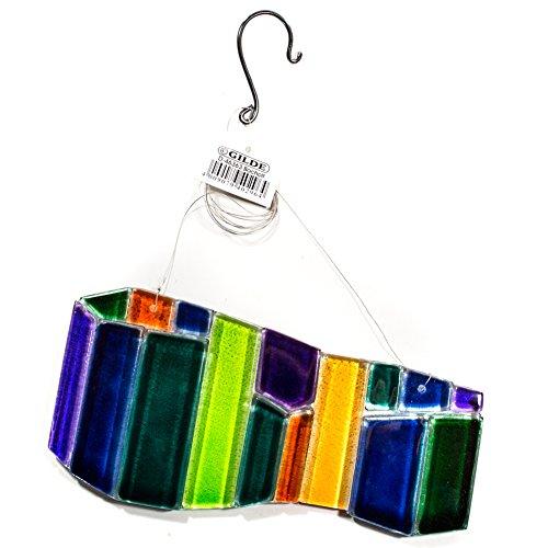 Gilde Glas- Dekoration zum hängen. Glashänger, Fensterbild, Glasdekoration, Glasobjekt (Grün/ Blau) …