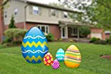 aahs!! Engraving Easter Egg Yard Signs, Outdoor Decorations 5 Pieces