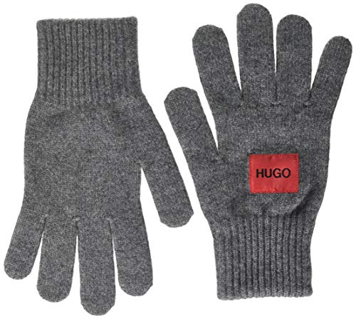 HUGO Mens Waff Cold Weather Gloves, Charcoal (16), ONESI