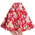100% Cotton Polka Dot Floral 50s Vintage Retro Swing Full Circle Skirt