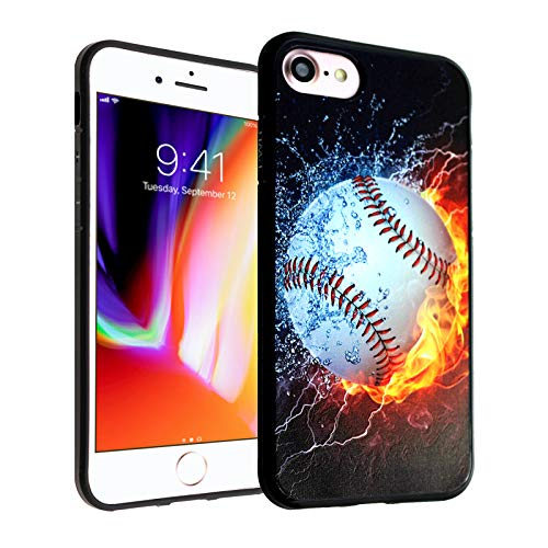 iPhone SE 2020 CASEMPIRE Baseball on Water TPU Case Shock Proof Never Fade Slim Fit Cover for iPhone SE 2020 Baseball on Fire