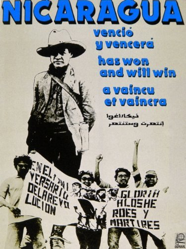 18x24 Political Poster. Day of World Solidarity with NICARAGUA.Victory by Short Run Posters