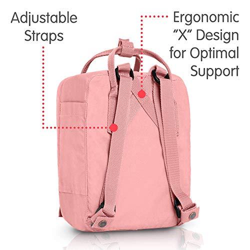 Fjallraven, Kanken Mini Classic Backpack for Everyday, Pink