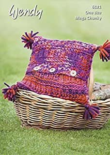 Wendy Home Cushions Attitude Knitting Pattern 6121 Super Chunky