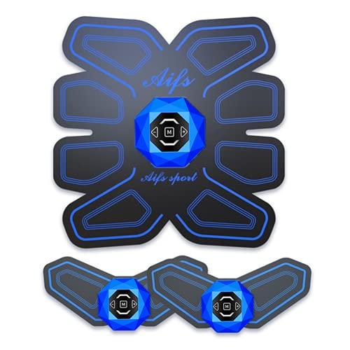 Shapewear Electroestimulador Muscular, Abdominales Cinturón, Estimulador Cinturón con USB, Ejercitador del Abdomen/Brazo/Piernas/Cintura 6 Modos de Simulación,10 Niveles Diferentes