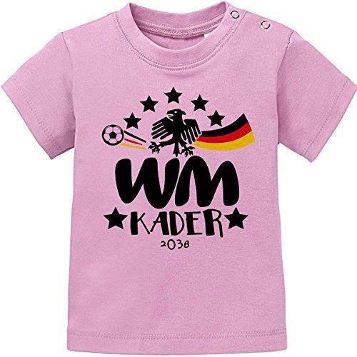 Mikalino Baby/Kinder T-Shirt WM Kader 2038, Farbe:rosa, Grösse:80/86