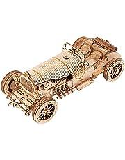 ROKR Puzzle Bois 3D Voiture pour Adultes Enfants de Plus 14 Ans Maquette en Bois a Construire Cadeau de Kit 220 Pièces, Grand Prix Car