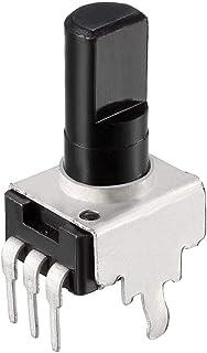 uxcell Carbon Film Potentiometer, 10K Ohm Variable Resistors Single Turn Rotary Half Shaft Design 10pcs