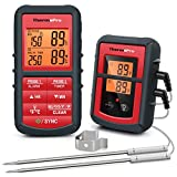 ThermoPro TP08C Digital Wireless BBQ Thermometer Kitchen Thermometer with Dual Probe for Cooking Meat Food Oven Thermometer with Backlight LCD Mode Timer