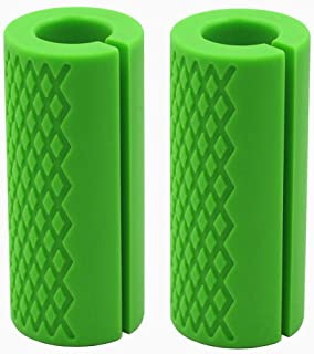 Barbell Grips-Thick Bar Fat Grips for Weightlifting 1 inch-Dumbbell Handles Stress Relieve Alpha Grip Hand Protector Pull up Tape Arm Blaster Adapter for Standard Hex/Bicep/Tricep/Threaded/Shrug Bars.
