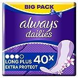 Always Extra Protect Long Plus Fresh Slipeinlagen, 40 Stück