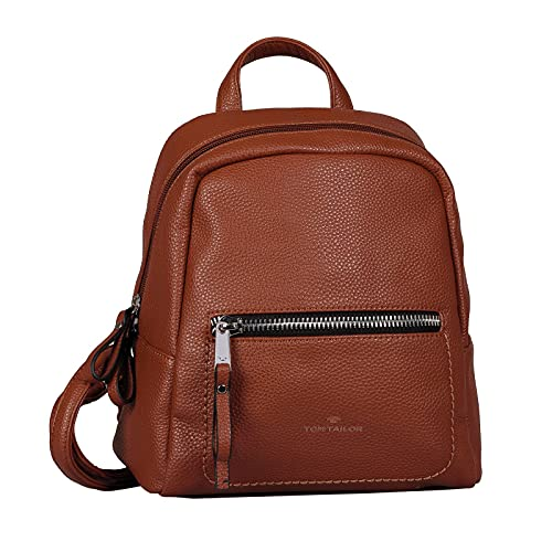 TOM TAILOR bags TINNA Damen Rucksack S, cognac, 24x10,5x25