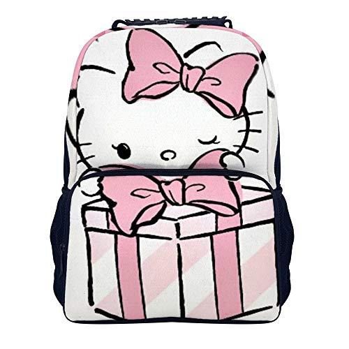 51XZ0kunatL - Hello Kitty mochila de regalo escolar bolsa de viaje de negocios mochila para hombres mujeres adolescentes escuela universidad 16 pulgadas