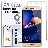 REY Protector de Pantalla para Huawei Y6 II 2016 Cristal Vidrio Templado Premium