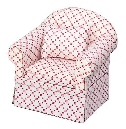Inusitus Neues Puppenhaus Sessel | Miniatur Möbel Sofa Sessel | Puppen Spielzeug | 1/12 Möbel für Kinder (Weiß)