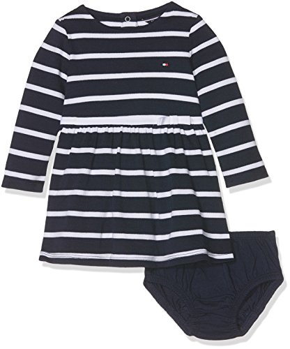 Tommy Hilfiger baby-meisjes jurk BIG STRIPE BABY DRESS L/S
