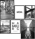 Papierschmiede® Mood-Poster Set Hamburg | Bilder als