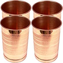 ROYAL SAPPHIRE Pure Copper Glass for Drinking Water | Tumbler Set Of 4| Copper Cup Set for Ayurveda Health Benefits