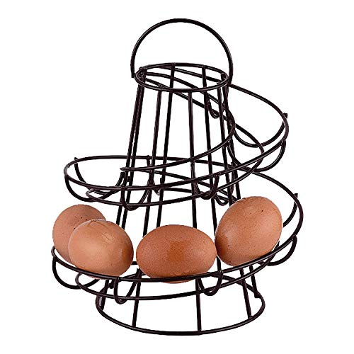 Greenfields Keuken Opslag Spiraal Helter Skelter Ei Houder Stand Rack Houdt maximaal 18 Eieren