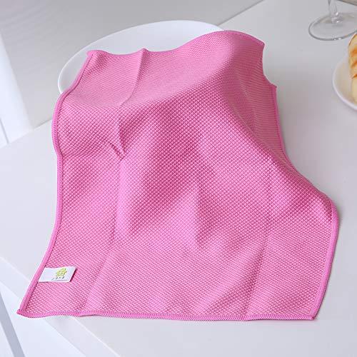 30 x 40 cm kleurrijke superfijn fiber waskom servies doek reiniger auto glasbodem roze