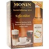 Monin Set Minibottiglie di Sciroppo per Caffè, Tè, Cocktails, Desserts, 6 Bottiglie...