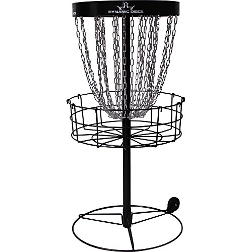 Dynamic Discs Recruit Portable Disc Golf Basket | 26-Chain Disc Golf Target | Portable Wheel Attachment for Easy Mobility | Tension Screws for Increased Stability | Standard PDGA Approval | 3' Band