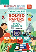 Oswaal Karnataka PUE Solved Papers II PUC Hindi Book Chapterwise & Topicwise (For 2021 Exam)