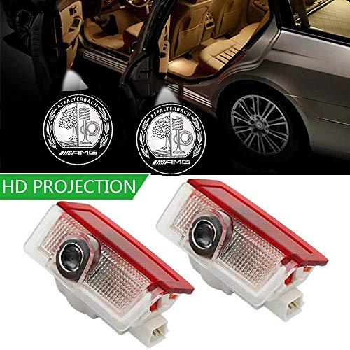 2 Stück Autotür Logo Einstiegsbeleuchtung Projektion Licht Glaslinse Türbeleuchtung willkommen Licht
