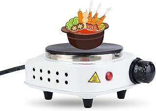 Mini cuisinière électrique, plaque de cuisson portative en acier inoxydable 500W pour cuisiner la soupe(European standard ...