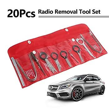 Eastyard Radio Removal Tool Kit  20pcs  Professional Automotive Car Audio Stereo Cd Player Radio Removal Keys Tool Compatible with BMW VW Skoda JVC