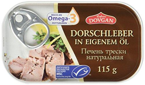 Dovgan Dorschleber in eigenem Öl, 6er Pack (6 x 115 g)