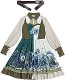 YYCHER Cosplay Nekopara Anime Cosplay Gato Niña Sirviente Vestido Lolita Vestido Vainilla Chocola Cosplay Disfraz Disfraz (Color: Azul E, Talla Grande) (Color: Conjunto completo, Tamaño: 3XL)