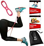 Sargoby Fitness Easy to use Butt Resistance Band   Sculpt & Tone Your Bum Thighs with Booty Bands Resistance Bands   The Booty Band for Women Comes with Workout eBook with Pictures & Exercise Log