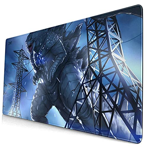 Godzilla Gaming Mouse Pad Large Extended Mouse Pads Nonslip Base Stitched Edge Mouse Mat Waterproof Keyboard Pad Durable Desk Pad For Desktop/Laptop//Game/Work