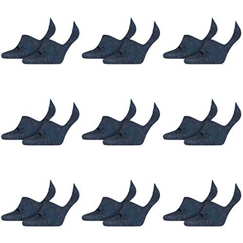 PUMA 18 Paar Socken Footie Sportsocken Invisible Gr. 35-46 Unisex, Socken und Strümpfe:39-42, Farbe:460 denim blue