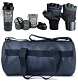 Hyper Adam Polyester Black Gym Bag With Protein Shaker ,Gym Glove with Wrist