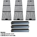 Direct Store Parts Kit DG234 Replacement for Chargriller 3001,3008,3030,40,00, 5050,5252; King Griller 3008,5252 Gas Grill (Porcelain Steel Heat Plates + Porcelain Cast Iron Cooking Grid)