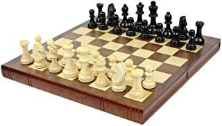 SHY Classic Chess Set Wooden International Chess Set Folding Pieces Set Board Game Funny Game Chessmen Collection Portable...