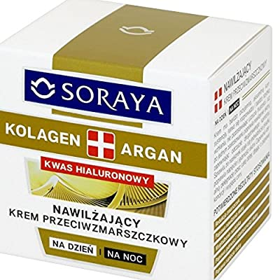 Soraya Collagen Argan Hyaluronic Acid Day Night Face Cream Moisture Anti Wrinkle by Soraya