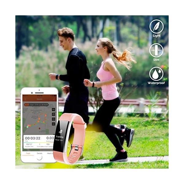 CHEREEKI Pulsera Actividad, Fitness Tracker para Mujer Hombre con Correas Recambias IP67 Waterproof Activity Tracker con… 8