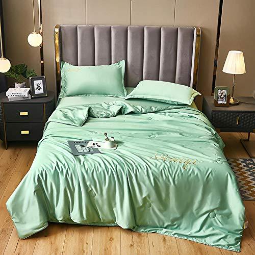 Bedding-LZ Juegos de sábanas Infantiles 105-,Día de Color sólido Cuatro Paquetes de Lujo Ligero.-U_Cama de 150 cm