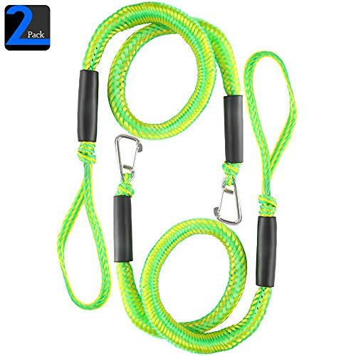 4-5.5 ft 2 Pack /& 4 Pack with Stainless Steel Clip YIILOONE Bungee Boat Dock Line Mooring Rope Boat Accessories Docking Lines PWC Dock line