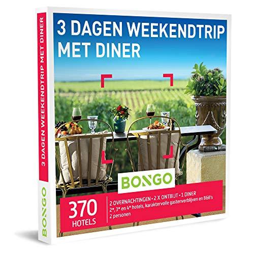 Bongo Bon - 3 Dagen Weekendtrip met Diner | Cadeaubonnen Cadeaukaart cadeau voor man of vrouw | 370 hotels in de stad of midden in de natuur