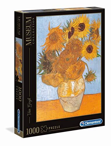 Clementoni- Van Gogh-Girasoli Museum Collection Puzzle, 1000 Pezzi, 31438