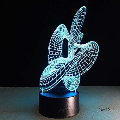 BFMBCHDJ Abstrakter Tanz der hellen Note 3D bunter Nachtlicht-Halloween-Tischlampe-Neuheits-Luminaria führte das Schreibtisch-Lampenton