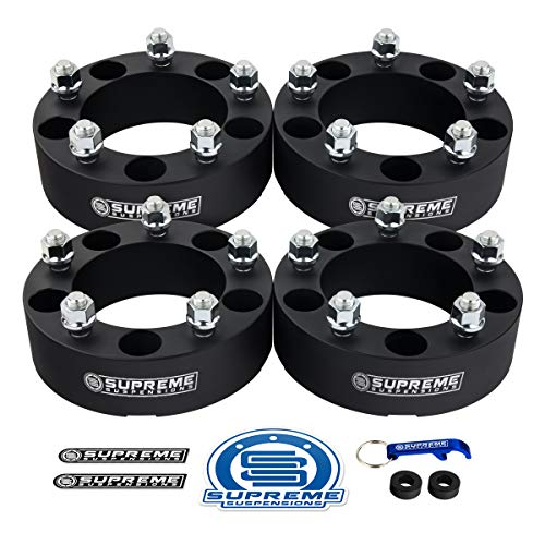 Supreme Suspensions - 4x Wheel Spacers for 1994-2001 Dodge Ram 1500 2' Wheel Spacers 5x5.5' (5x139.7mm) with 1/2'x20 Studs [Black]