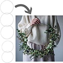 5 Large Hoop Wreath Frame Set for Making Wedding Wreath Decor, a Macrame Wall Hanging with Macrame Hoops or a Floral Hoop Wreath - Large Hoops are Perfect for DIY Decor - Include 5 x Round Hoop Frame