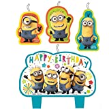 Despicable Me Minions Happy Birthday Candle Set - 4 pcs